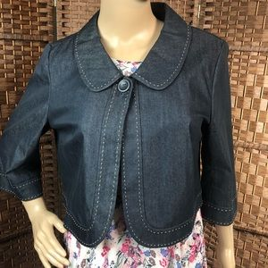 Ann Taylor LOFT Chambray Blazer Size 10
